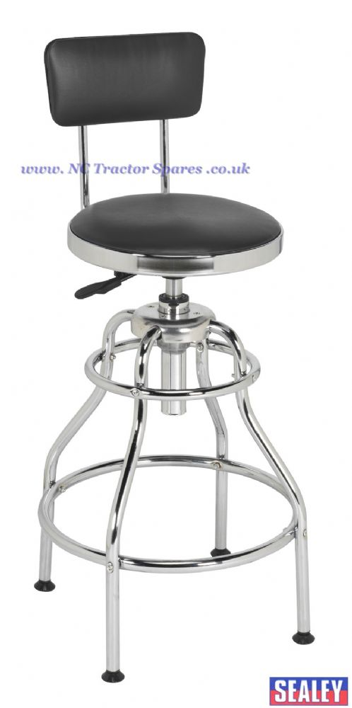 Workshop Stool Pneumatic With Adjustable Height Swivel
